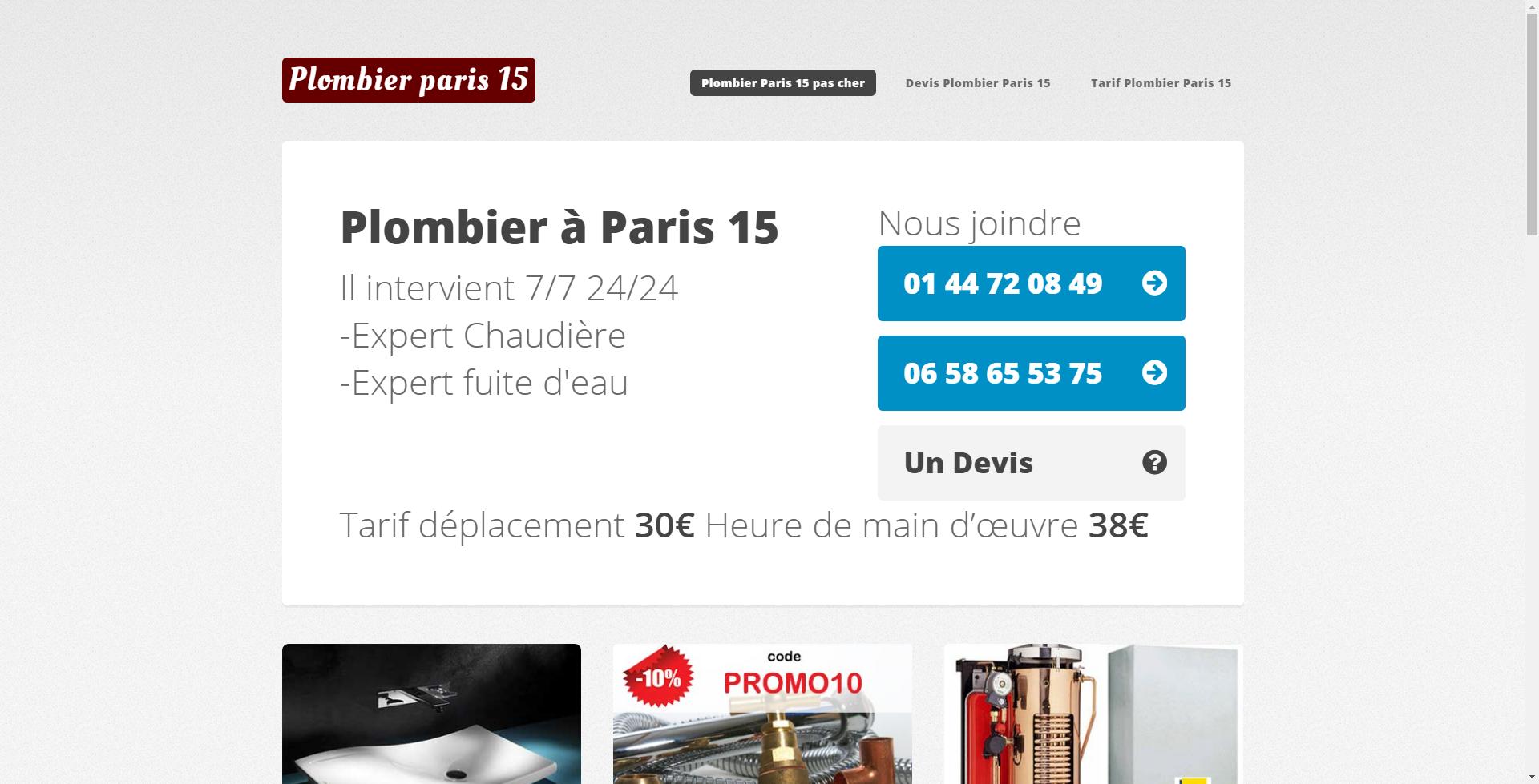 Realisation plombier paris 15